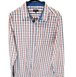Galaxy By Harvic Mens Plaid Long Sleeve Shirt L